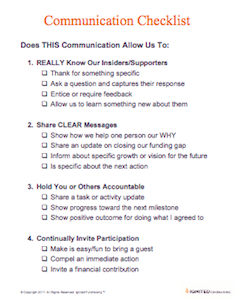Trust the Process And Use this Communication Checklist