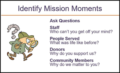 Identify Mission Moments for Nonprofit Storytelling