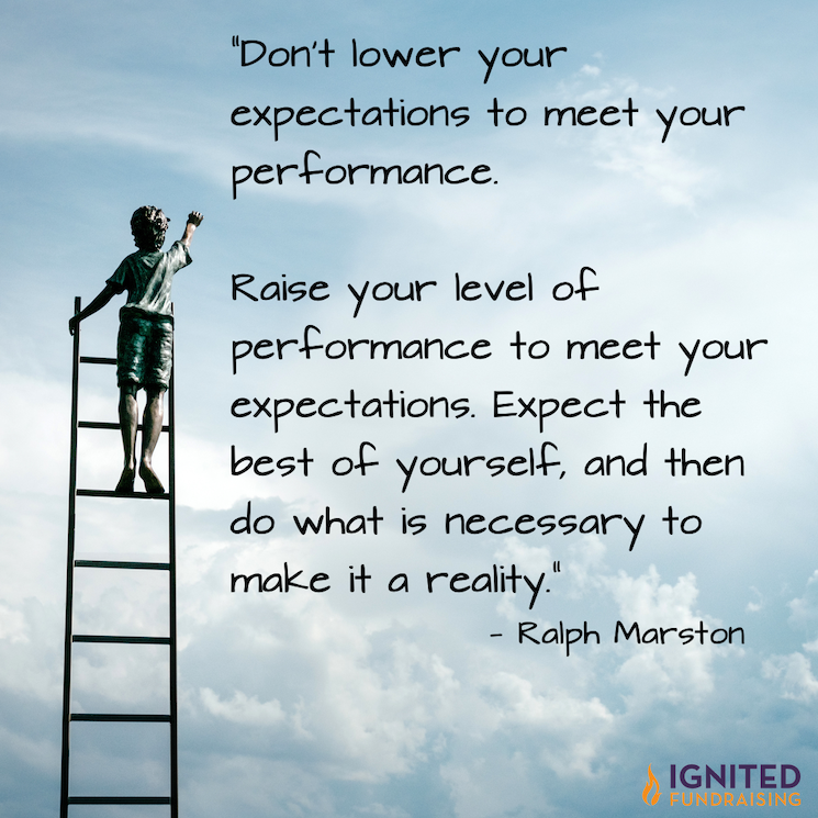 Don't lower expectations to meet performance.