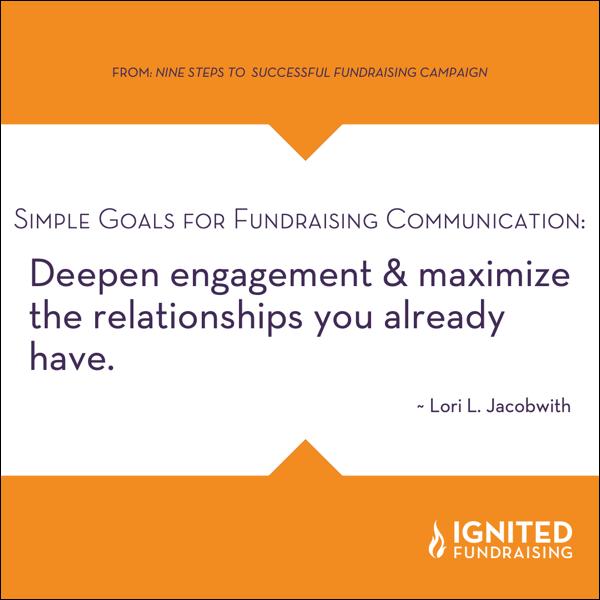 Fundraising Communication Goal