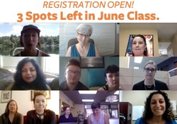ONLY offered ONCE a year. Next course begins June 5!