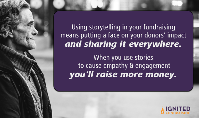 what does it mean to use storytelling in your fundraising?