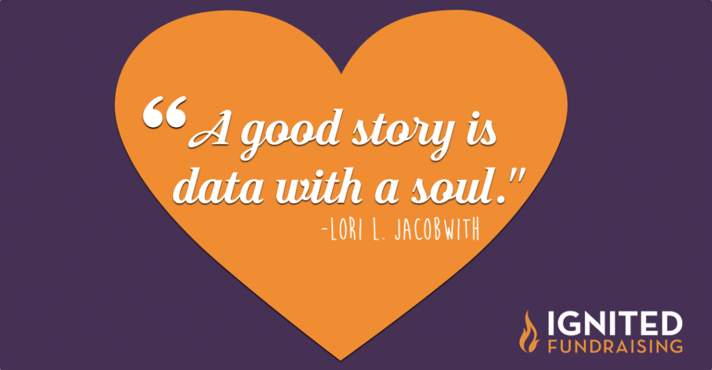 A Good Story is Data with a Soul